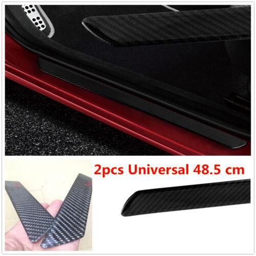 Universal 2pcs Carbon Fiber Car Scuff Plate Door Sill Cover Guard Protector Trim
