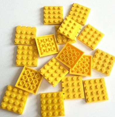 Lego 16x Piastre 4x4 Quadrate Giallo Lotto Set Kg Sped Gratis Su + Acquisti Beneficiale Per Lo Sperma