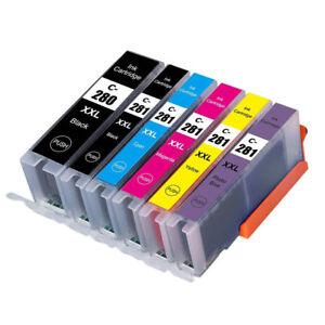 6PK PGI-280 XXL CLI-281 XXL Ink for Canon PIXMA TS8120 TS9120 PGI280 CLI281 XL