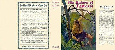 AnpassungsfäHig Edgar Rice Burroughs The Return Of Tarzan Replika Dust Jacket A L Burt