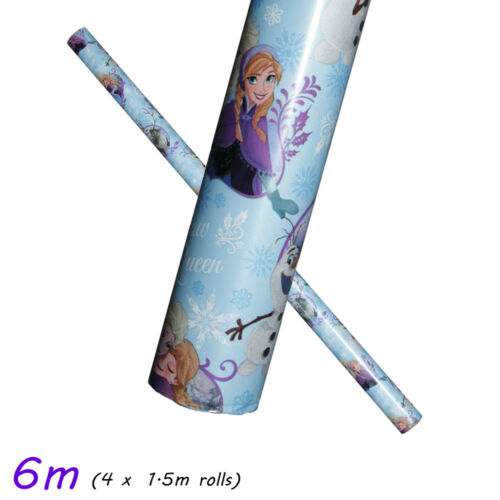 Noël Noël Festif Roll Wrap Cadeau 6 m /& 7 m Official Disney Papier d/'emballage