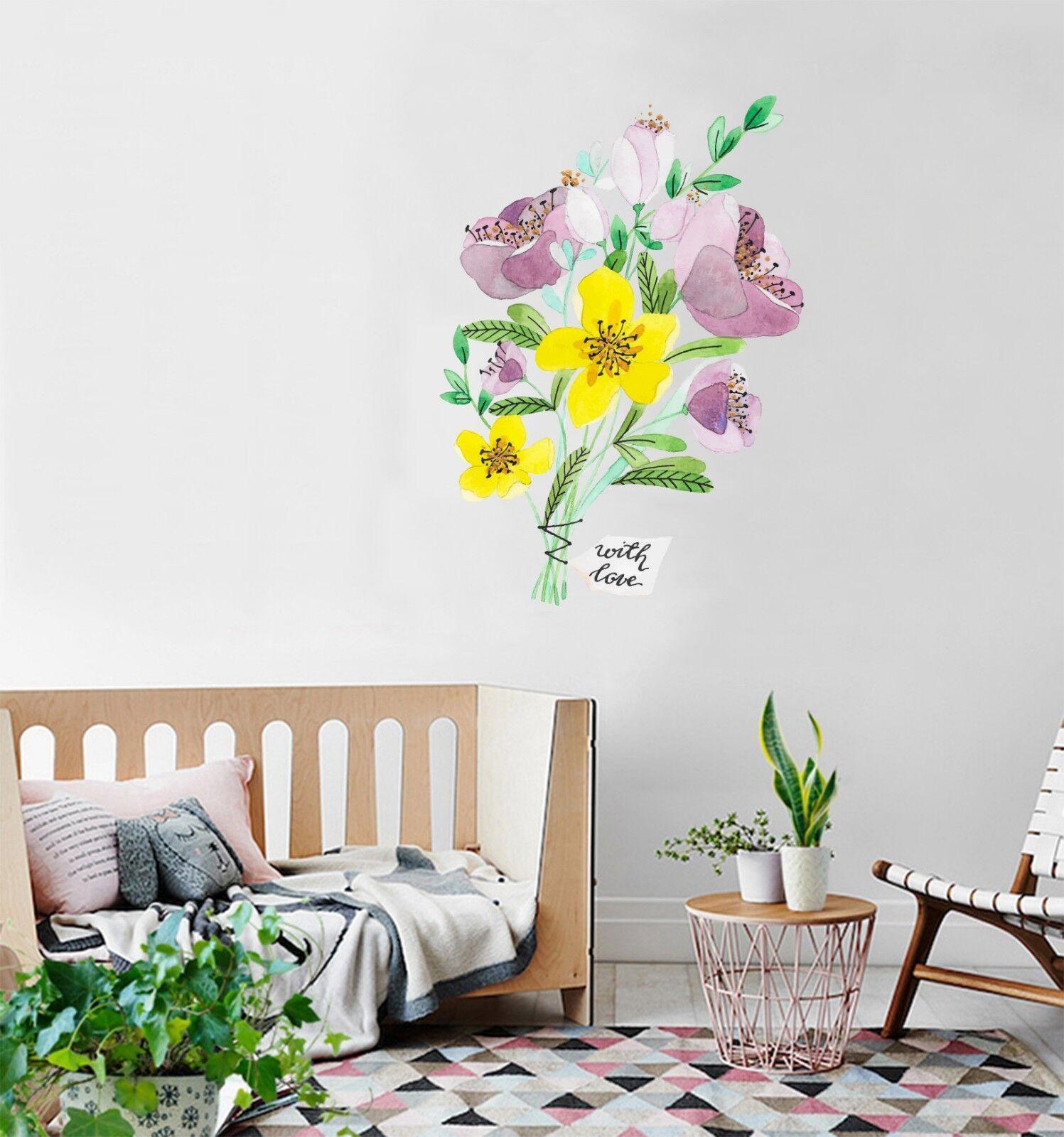 3D Farbeful Flowers 035 Wallpaper Murals Floor Wall Print Wall Sticker AU Summer