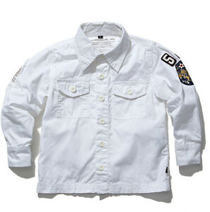 New Alpha Industries Boys white Patterson Military cotton Shirt Top 2y 3y 4y $75