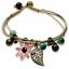miniature 15 - Bracelet Flower Daisy Beads Girls Ceramic Charm Jewellery Silver Ankle Girls