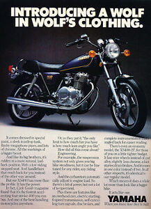 Classic Vintage Advertisement Ad D23 1980 Yamaha XS650 and XS400 Motorcycles