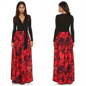 Dvf Diane Von Furstenberg Kailey Wrap Maxi Gown Dress