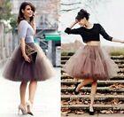 Midi Retro Underskirt Swing wedding Petticoat Rockabilly Tutu Skirt 5 Layers SZY