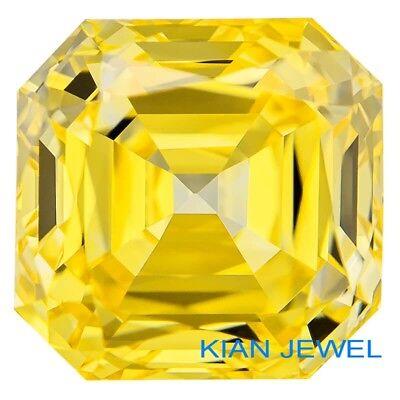 Asscher Cut D//VVS1 Premium Diamond Simulated Lab Created Loose 75.00Carat 25mm