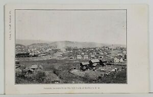 Saxton-Pa-Bird-039-s-Eye-from-Hill-Back-of-Kelley-039-s-Row-With-Railroad-Postcard-N10