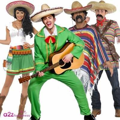 Generoso Da Uomo Donna Messicana Tequilla Bandit Mariachi Wild West Costume Per Adulti-mostra Il Titolo Originale Prodotti Di Qualità In Base Alla Qualità
