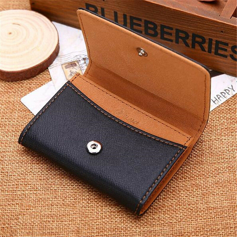 Portable Simple Style PU Leather Wallets Men Card Holder Hasp Purse Coins ase SH