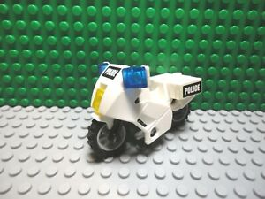 LEGO White City Motorcycle Part 52035c02 Police Widebody For Minfigures To Ride