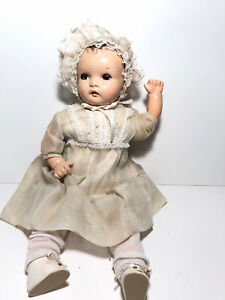 Vintage 1930 40 S Composition And Cloth Baby Doll Eyes Move