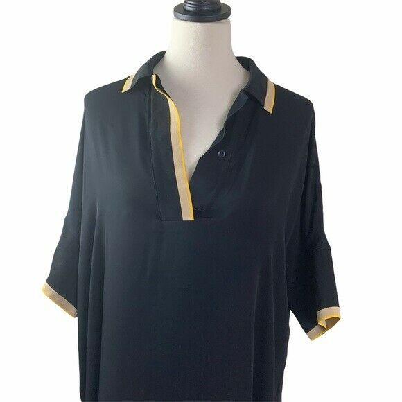 Rag and Bone Dana Silk Tunic Size 0 Black - image 7