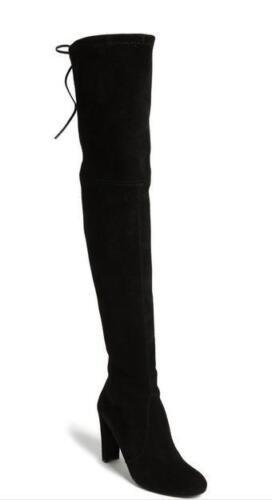 $945 Stuart Weitzman Hiline Over The Knee Black Suede 5 5.5 6 6.5 7.5 8.5 9.5 10