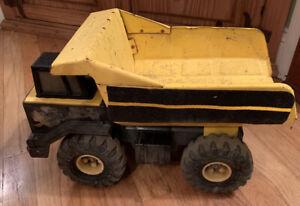 Vintage-Tonka-Pressed-Steel-1999-Yellow-Classic-Dump-Truck