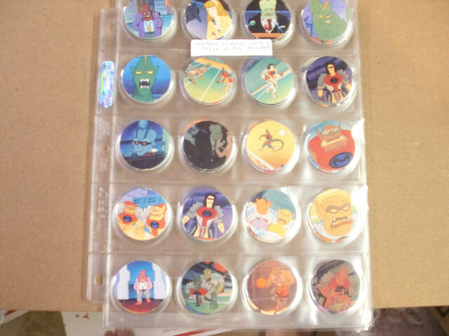 MUTANT LEAGUE SERIES 1 POGS COMPLETE SET OF (70) 1993 WITH POG PAGES