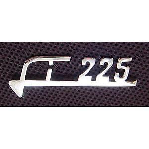 X 225 LEGSHIELD BADGE LAMBRETTA  SX 225 BRAND NEW CHROME