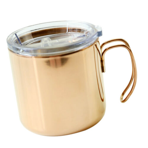 400ml Stainless Steel Camping Hiking Travel Coffee Mug Cup with Sealed Lid