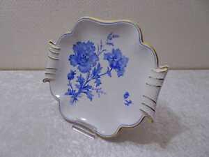 DDR-Design-Weimar-Porzellan-Zierschale-Ilka-Vintage-Blaue-Blumen