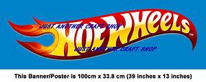 Hot-Wheels-cartel-de-tamano-gigante-transmisor-de-Banner-tienda-Sign-Muy-Alta-Calidad