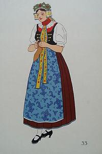 -2-5-33 Gravure Costume De Jeune Fille De Haute Silésie Pologne 100% De MatéRiaux De Haute Qualité