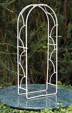 Miniature Dollhouse FAIRY GARDEN Furniture ~ Cream Iron Arch ~ NEW