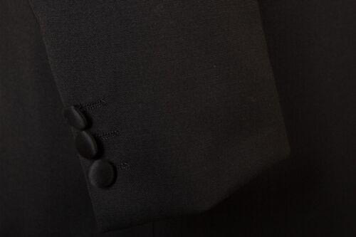 MENS NEW BLACK TUXEDO WEDDING PROM DRESS CRUISE BLAZER ROUNDED COLLAR JACKET