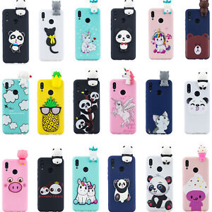 Details about 3D Cartoon Silicone Cover Case For Huawei Y6 Y7 Pro P Smart 2019 Honor 8A 8X 8C