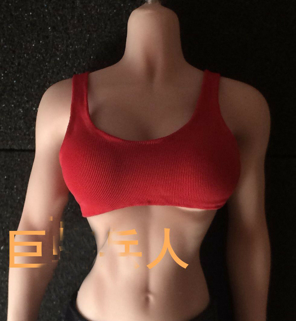 TBLeagure Phicen Phicen Phicen Figure Accessory Red Vest & Leather Pants For 12  Female Doll 37c6f3