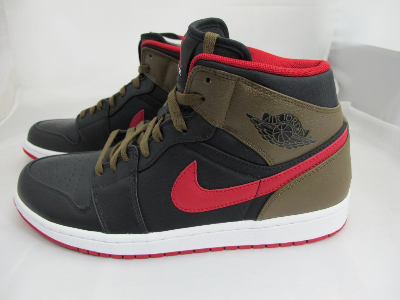 de nouveaux hommes est nike air jordanie 1 gym phat 364770-040 noir / gym 1 red-lght olive-white de nouvelles chaussures pour hommes et femmes, temps limité discount 0db897