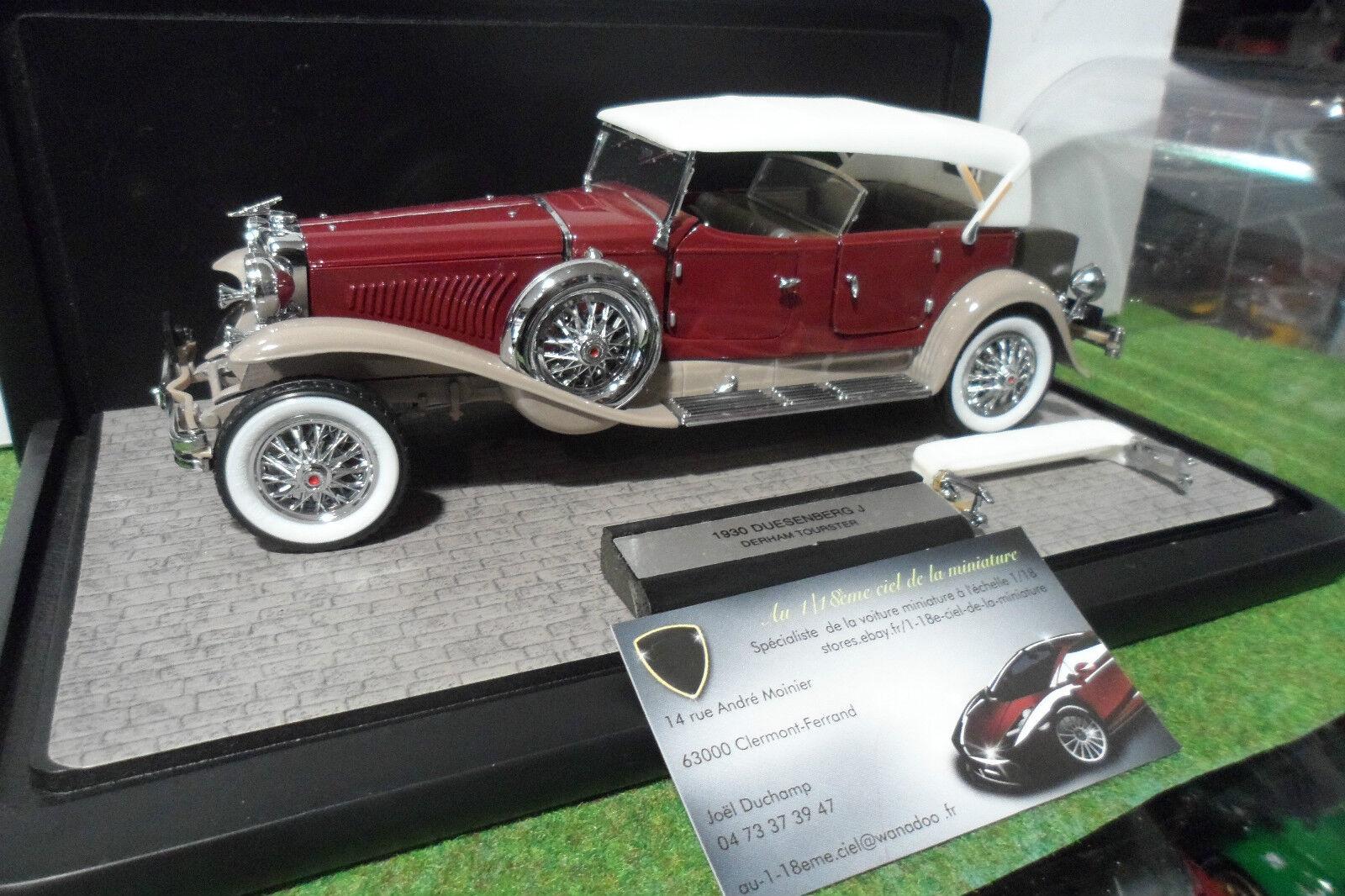 DUESENBERG J DERHAM TOURSTER + vitrine 1 24 FRANKLIN MINT voiture miniature coll