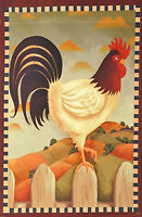 Rooster Country Fall Garden Flag Autumn Primitive Fence Decorative 12 X 18