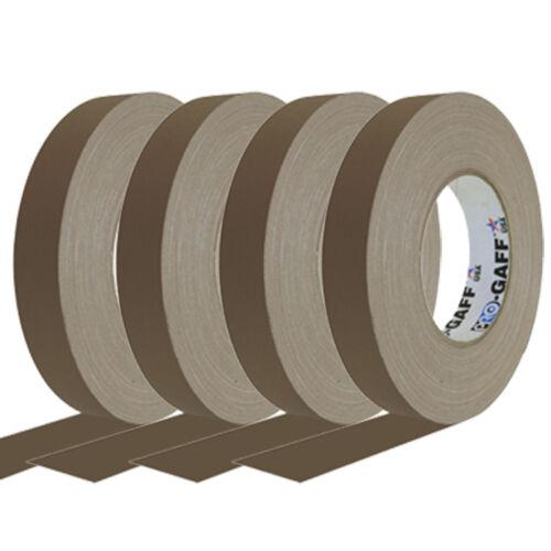 1 Inch Brown Pro Gaffer Gaffers Tape 55 yd Rolls 4 Pack
