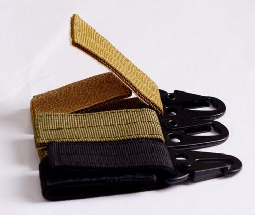 Tactical Nylon Belt Webbing Buckle Key Hook Hanging Carabiner Outdoor Hiking Yun