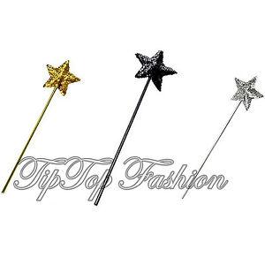 Sequin étoile Baguette Or Argent Noir Sparkle Princess Gothique Accessoire Robe Fantaisie-afficher Le Titre D'origine De Bons Compagnons Pour Les Enfants Comme Pour Les Adultes