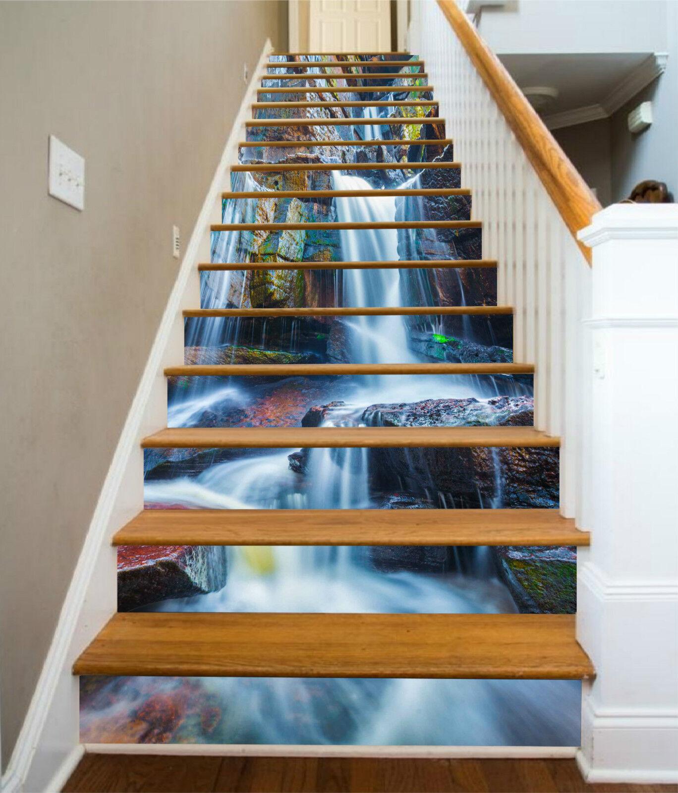 3d Fels Bach 0034 Stair Risers Décoration Papier Peint Vinyle Autocollant Papier Peint De