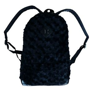 Gothic Horror Punk 80s 90s Cosplay Black Fuzzy Furry Monster Puppet Fur Backpack