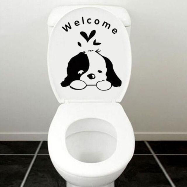 Lovely Animal Pattern Toilet Sticker Home Decor Fridge Sticker Wall Sticker