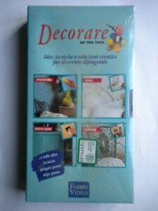 VHS-Decorare-casa-tecniche-imbiancare-dipingere-frottage-finiture-stencil-no-DVD