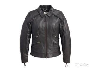 98064 davidson Veste Harley cuir femmes moyenne Heritage 13vw 744022249817 pour taille noire en g5dqqH
