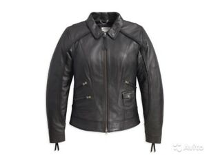 moyenne Harley taille femmes noire cuir davidson Veste 98064 13vw pour en Heritage 744022249817 rnPqSrH