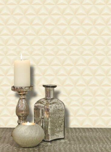 Triangle Spots Geometric Wallpaper Metallic Peach Pearl Vinyl Paste Wall