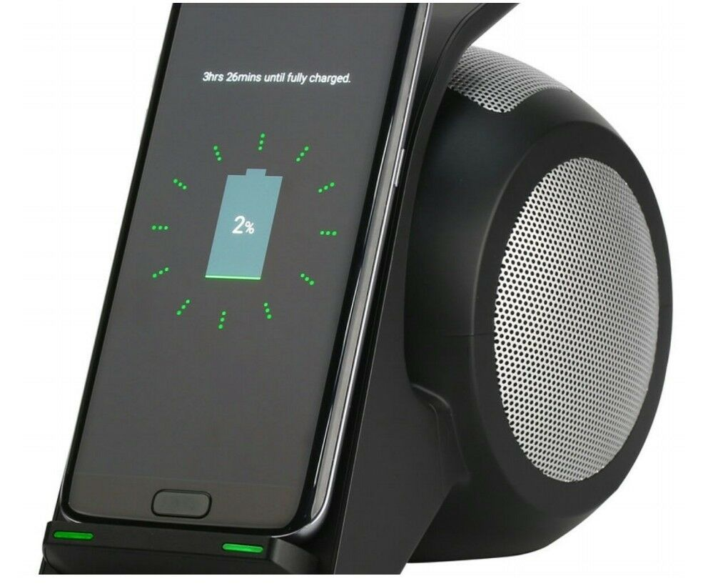 Wireless Charger Bluetooth Speaker iPhone and ALL GALAXY Google Phones