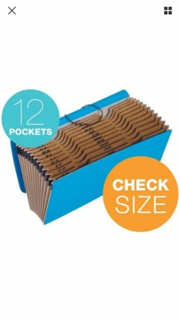 Expanding File 19 Pocket by Globe-Weis Assorted Colors To Choose From NEW