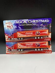Coca-Cola-Weihnachtstrucks-Truck-2-Pc-Unbenutzt-Top-Condition