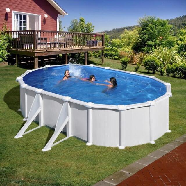 Gre Atlantis Pool Set Aufstellbecken Oval Mit Aussenstreben Inkl