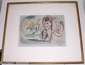 JULES-PASCIN-1885-1930-ORIGINAL-WATERCOLOR-GOUACHE