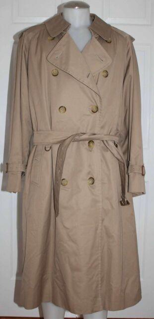 09ff9ccd28a3 Vtg Burberry Prorsum w  Wool Liner Khaki Classic Trench Coat Jacket Mens 44R