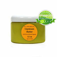 Capsicum Butter Cold Pressed Pure & Organic You Pick Size Free Shipping